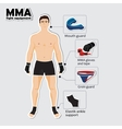 Sport equipment for mixed martial arts vector image vector image
