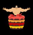 stripper from cake congratulation pretty boy vector image vector image