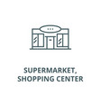 supermarketshopping center line icon vector image vector image