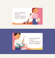 teacher teaching people profession business card vector image vector image