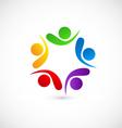 Teamwork friends networking logo vector image
