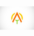 triangle business abstract logo vector image vector image