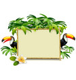 Tropics frame with toucan