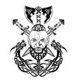 viking totem dragon 0001 vector image vector image