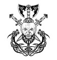 viking totem dragon 0001 vector image