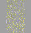 wavy hand painted yellow lines on light gray vector image