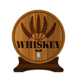 whiskey barrel premium quality wheat wreath flat vector image