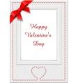 frame for saint valentines day eps10 transparent o vector image