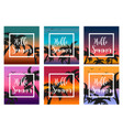 hello summer set the template for the poster in a vector image