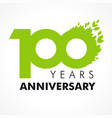 100 anniversary leaves logo vector image vector image
