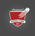 baseball badge league logo or template for vector image vector image