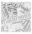 bathroom remodeling pictures Word Cloud Concept vector image vector image