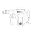 Big electric hammer drill Contour vector image vector image