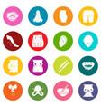 body parts icons set colorful circles vector image vector image