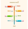 business timeline infographics with pencils vector image vector image