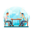 businessmen discussing strategy flat design vector image