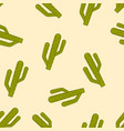 cactus colored cartoon seamless pattern vector image vector image