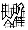 cartoon image of graph icon vector image