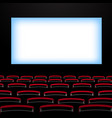 cinema auditorium with screen and seats vector image vector image