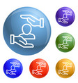 client care icons set vector image vector image