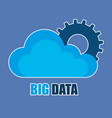 cloud computing with big data icons vector image
