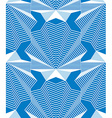 Continuous pattern with graphic lines decorative vector image vector image