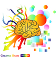 Creative Abstract Brain vector image vector image