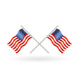 cross united states america flag vector image vector image