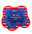 cut paper background for fourth of july vector image