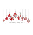 cute bright red and gray xmas balls for invitation vector image vector image