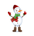 cute snowman christmas with vector image