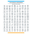 database big line set vector image vector image