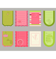 design elements for bascrapbook - cute tags wit vector image