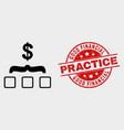 dollar aggregation icon and grunge good vector image vector image
