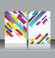 flat geometric pattern can be used for brochures vector image vector image