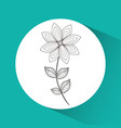 flower emblem image vector image