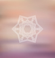 geometric star on blurred background 1803 vector image vector image