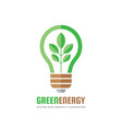 green energy - business logo template vector image