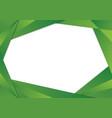 green triangle frame border vector image