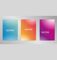 halftone cover design background set a4 format vector image vector image