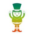 happy leprechaun cartoon st patricks day character vector image