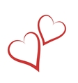 hearts silhouettes vector image vector image