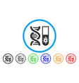hitech microbiology rounded icon vector image vector image