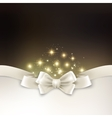 Holiday light Christmas background with white silk vector image vector image