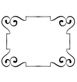 horizontal black frame on a white background vector image vector image