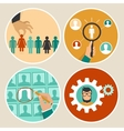 human resources concepts and icons vector image