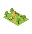 isometric playground vector image