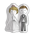 just married couple icon vector image vector image