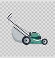 lawn mower machine icon technology equipment tool vector image vector image