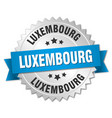 Luxembourg round silver badge with blue ribbon